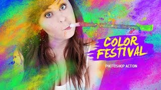Color festival Photosho Action - tutorial