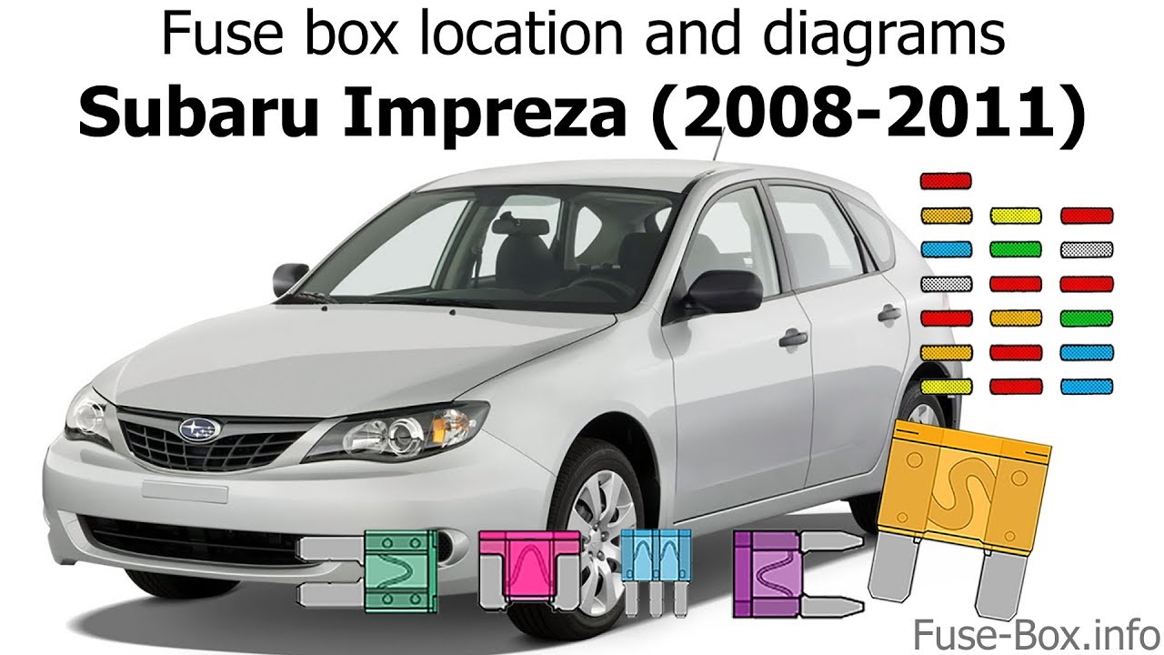 medium resolution of fuse box location and diagrams subaru impreza 2008 2011 youtube subaru fuel line diagram 2008 subaru fuse box diagram
