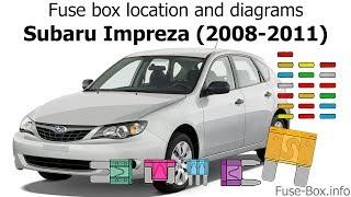 Fuse box location and diagrams: Subaru Impreza (2008-2011) - YouTubeYouTube
