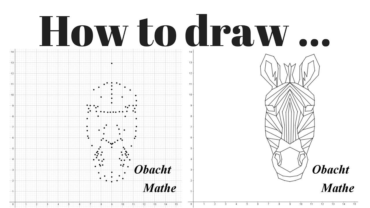 How To Draw A Zebra Head Geometric Step By Step Paint By Numbers Malen Nach Zahlen