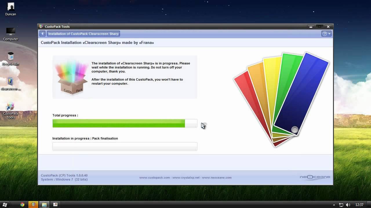 custopack for windows 7 starter