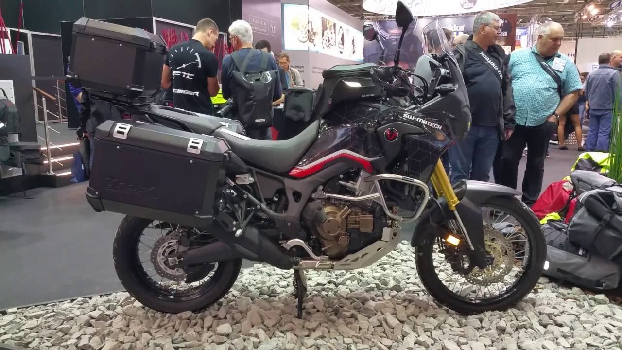 honda africa twin crf1000l 2017 sw motech travelbike youtube. Black Bedroom Furniture Sets. Home Design Ideas