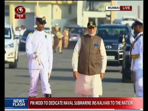 INS Kalvari - first Made-In-India Scorpene class submarine submarine commissioned by PM Modi