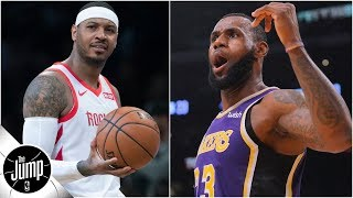 Does LeBron want Carmelo to join Lakers? | The Jump