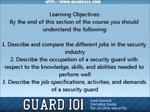 Section 1: Introduction to the Security Industry - YouTube