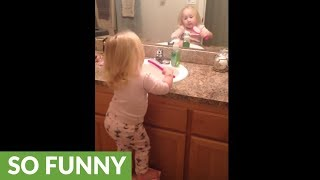 The best way to get your toddler to brush her teeth