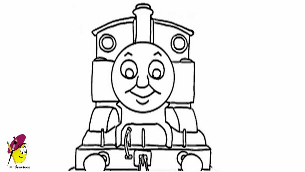 How To Draw Thomas The Tank Engine From Thomas And Friends