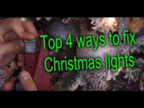 4 WAYS TO FIX CHRISTMAS STRING LIGHTS AND FIND BAD BULB
