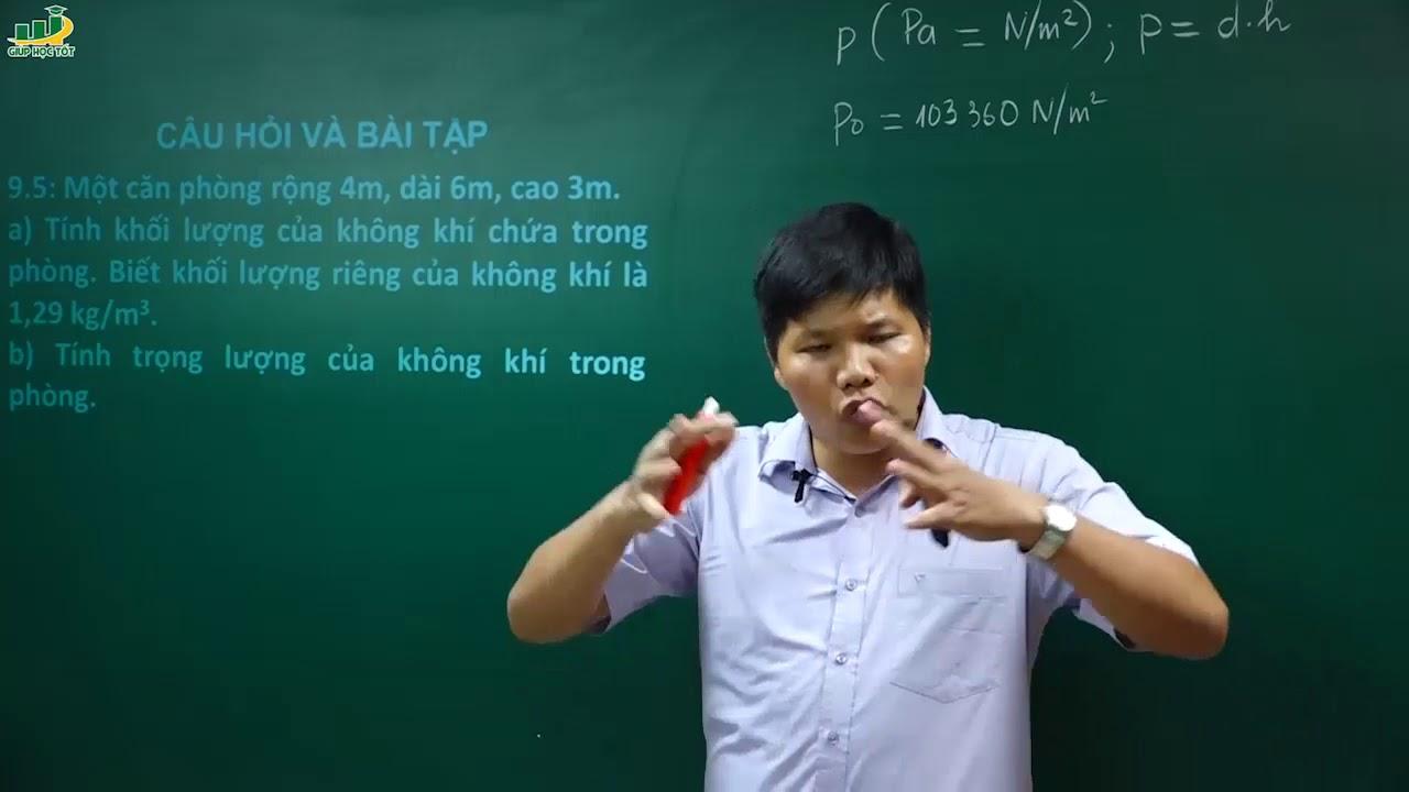 Vật Lí lớp 8 – Bài giảng bài 9 Áp suất khí quyển  Thầy Trần Văn Huỳnh