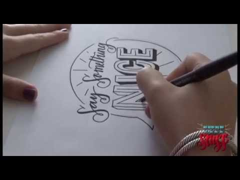 hand lettering tutorial lettering tutorial 2 say something 22076 | hqdefault