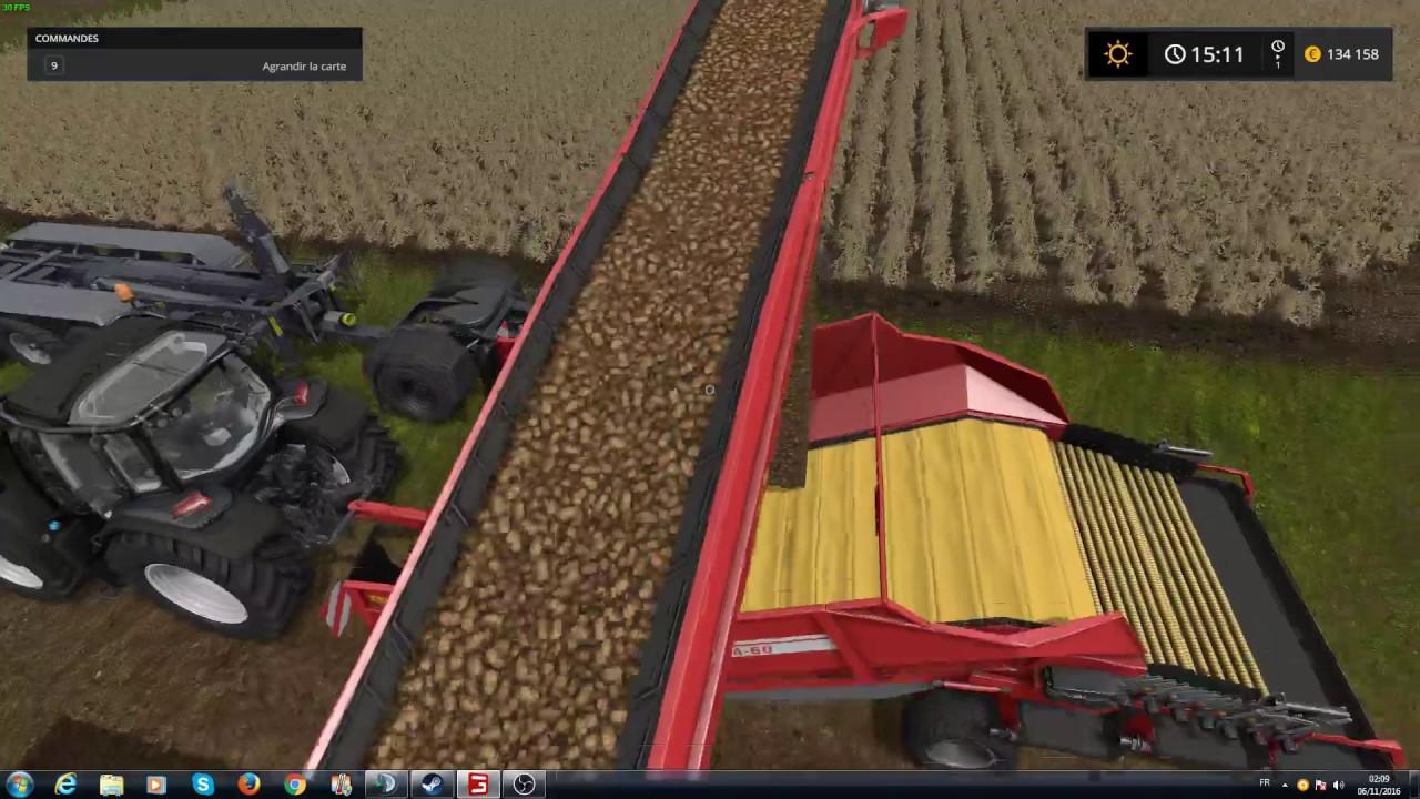 farming simulator 17 comment stocker les pommes de terre youtube. Black Bedroom Furniture Sets. Home Design Ideas