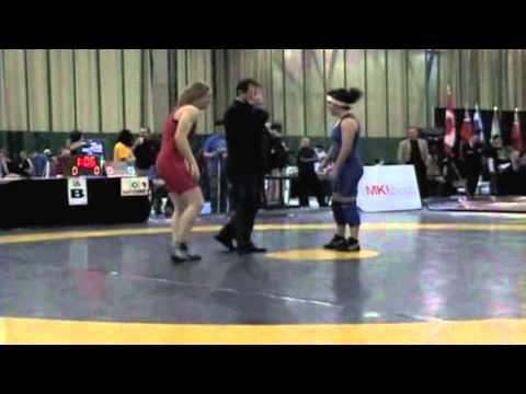 2009 Senior National Championships: 59 kg Katrina Huszarik vs. Jasmine Pelham