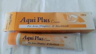 Aqui Plus  cream (for acne pimple) homeopaithic  review hindi#glow face#skin care