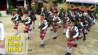 Bagpipers from India