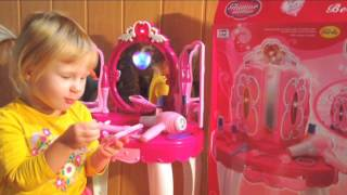 Канал для детей Kids Tv туалетный столик для девочки,трюмо обзор Glamor Mirror  DRESSING TABLE