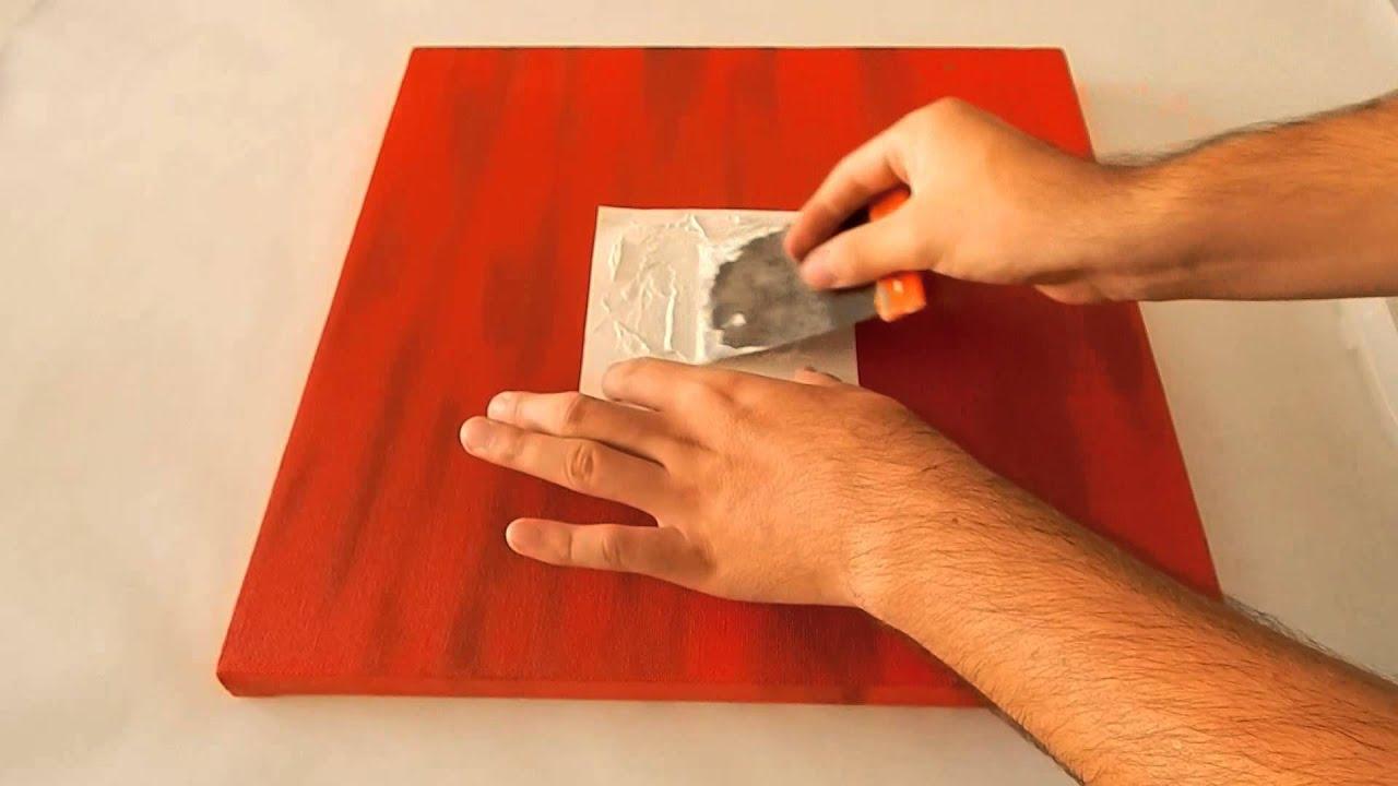 C mo pintar un cuadro minimalista rojo youtube - Como pintar un cuadro moderno ...