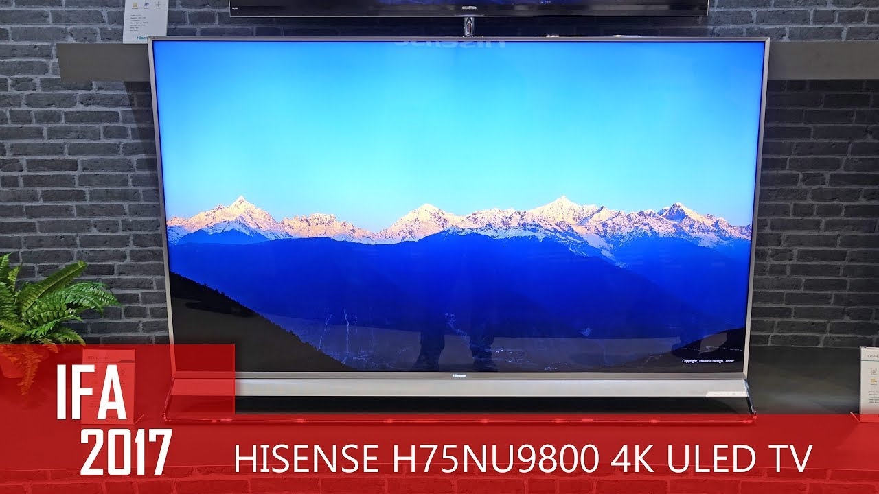 Hisense 75NU9800 4K ULED TV mit 560 Dimming-Zonen (IFA 2017)