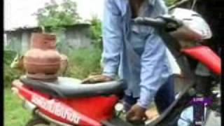 Cow dung converted to cooking & fuel gas