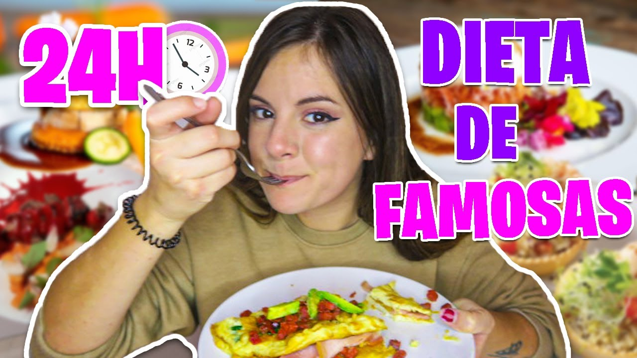 24 HORAS COMIENDO LA DIETA DE LAS FAMOSAS * Adelgacé muy rápido * Gigiis