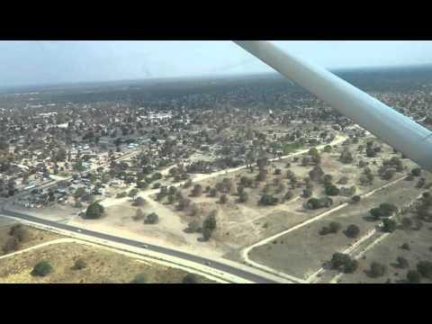 Single-engine plane take off, Maun, Botswana, 2015-09-30