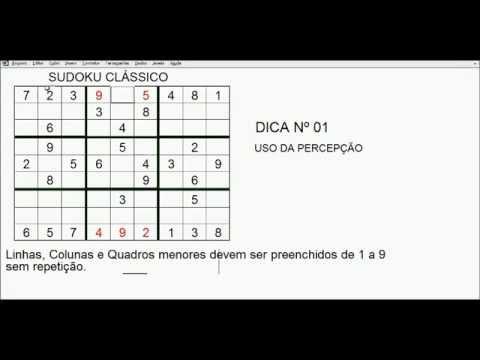 Sudoku Clássico -  DICAS E MACETES 01