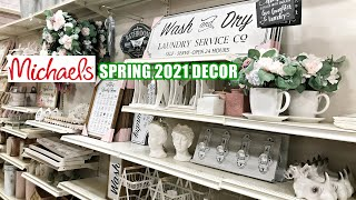 MICHAELS SPRING 2021 DECOR  'Vintage Romance' SHOP WITH ME 2021