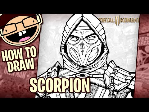 How To Draw Scorpion Mortal Kombat 11 Tutorial Time Lapse