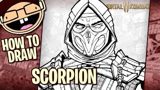 How To Draw Scorpion Mortal Kombat 11 Tutorial Time Lapse