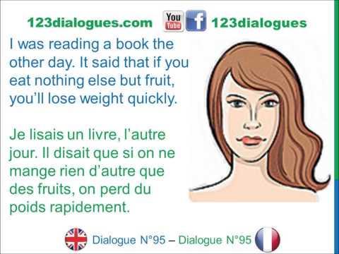 Dialogue 95 - English French Anglais Français - I'm fat Weight loss - Tu pèses combien?