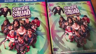 SUICIDE SQUAD BLU RAY UNBOXING