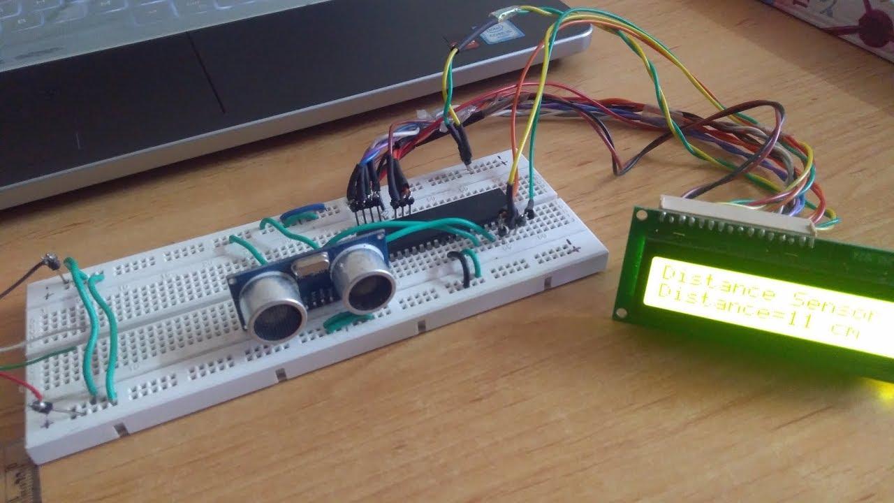 Interfacing Hc Sr04 Ultrasonic Sensor With Atmega32 Microcontroller Sensors Pic