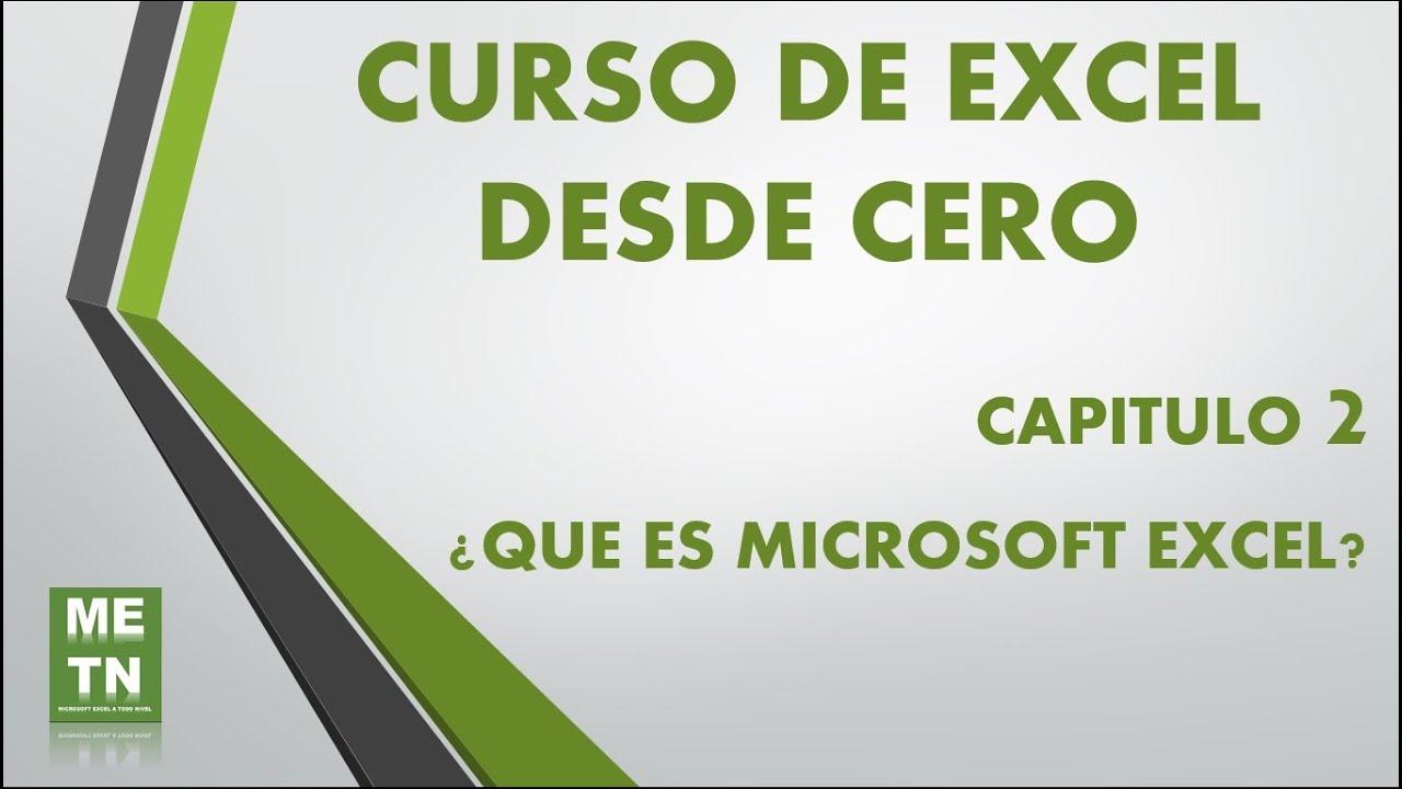 Download Curso Excel - Capítulo 2, Introducción para Principiantes | ¿Que es Microsoft Excel?