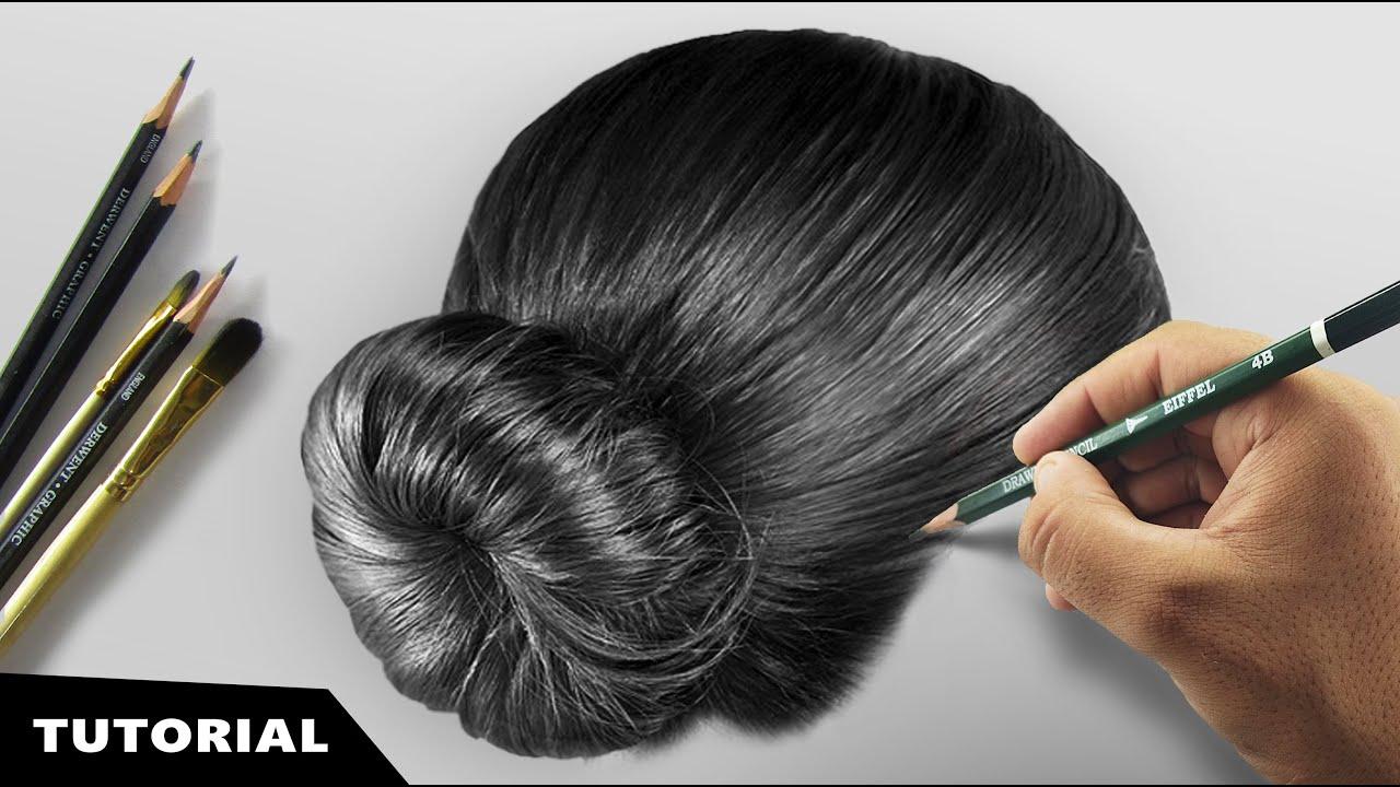 draw realistic hair tutorial