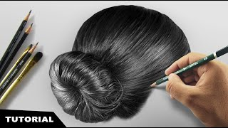 How I Draw Realistic Hairs | Tutorial for BEGINNERS.