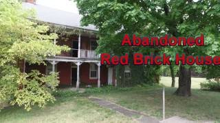 Come Explore With Me Abandoned & Over Grown Red Brick Farm House In Pennsylvania Colorful Walls