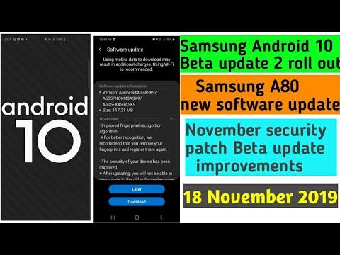 Samsung Android 10 beta update new software updates November 2019