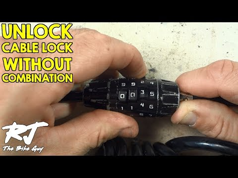 How To Unlock Cable Bike Lock Without Combination