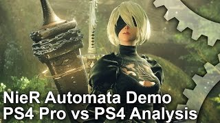 Nier Automata PS4 vs PS4 Pro Demo Comparison + Frame-Rate Test