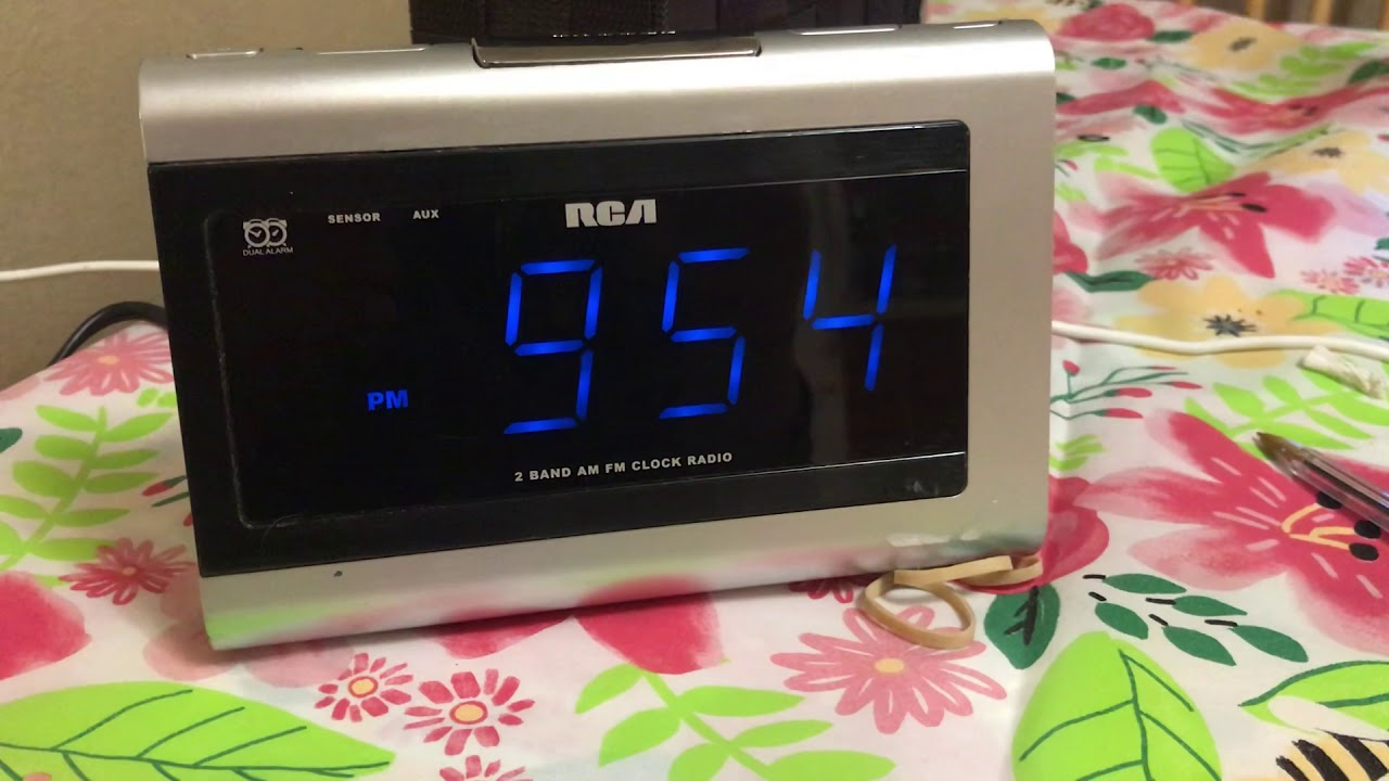 How To Set The Time On Rca Clock You