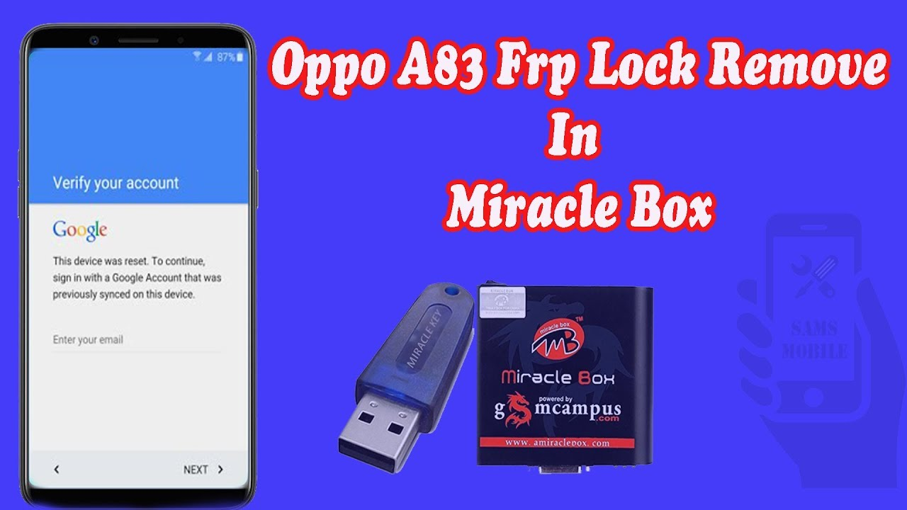 How To Oppo A83 CPH1729 Unlock And FRP By Pass By Miracle Box Hindi Me