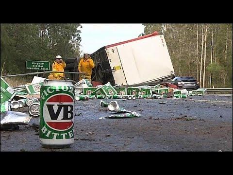 Uma autoestrada cheia de cerveja