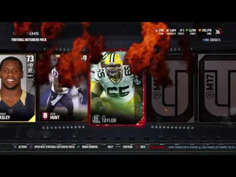 FOOTBALL OUTSIDERS BUNDLE!!! 93 MIKE EVANS 95 RICKY WILLIAMS | MUT 17 PACK OPENING