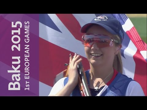 Hill holds her nerve in a high quality Gold Medal Match   Shooting   Baku 2015 European Games