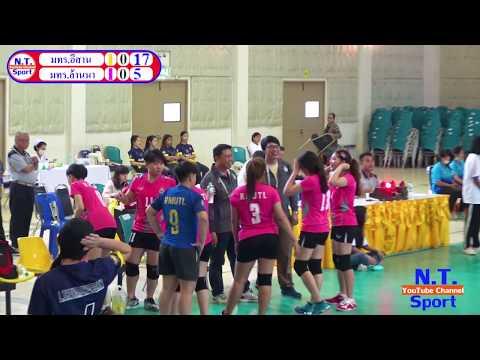 วอลเลย์บอล กีฬามหาวิทยาลัยเทคโนโลยีราชมงคลแห่งประเทศไทย มทร อีสานพบมทร.ล้านนา