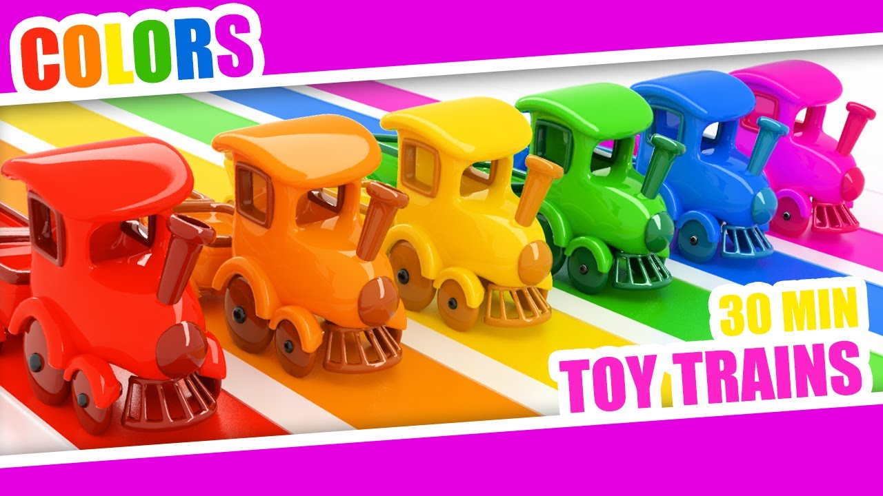 Colors Toy Trains Kids - Colors Videos Collection - Color Rainbow