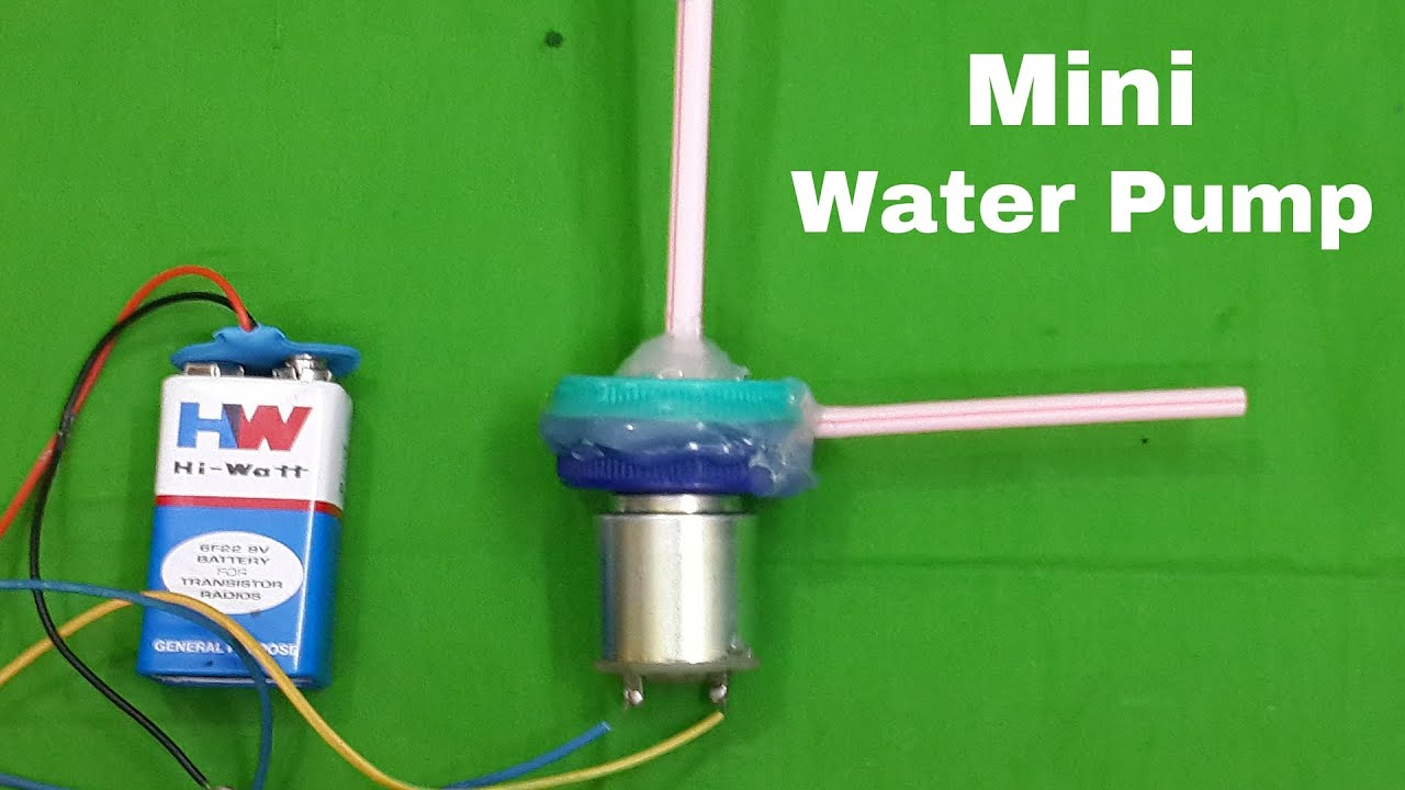 Turn A Toy Dc Motor Into A Mini Electric Water Pump Like