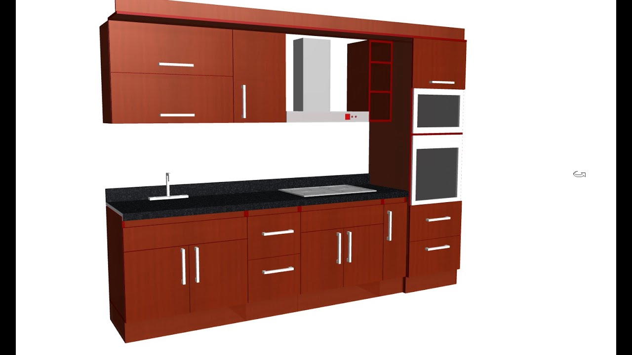 Como dise ar y construir una cocina muebles de cocina 3 for Cocina 3 metros pared