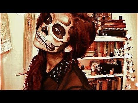 halloween tutorial skull face makeup - Skull Faces Halloween