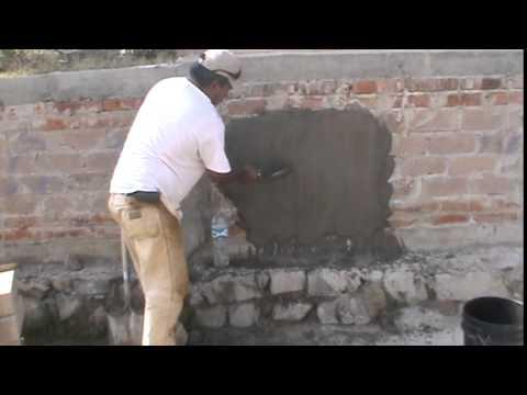 Repellado con mortero peganova youtube for Mortero de cemento