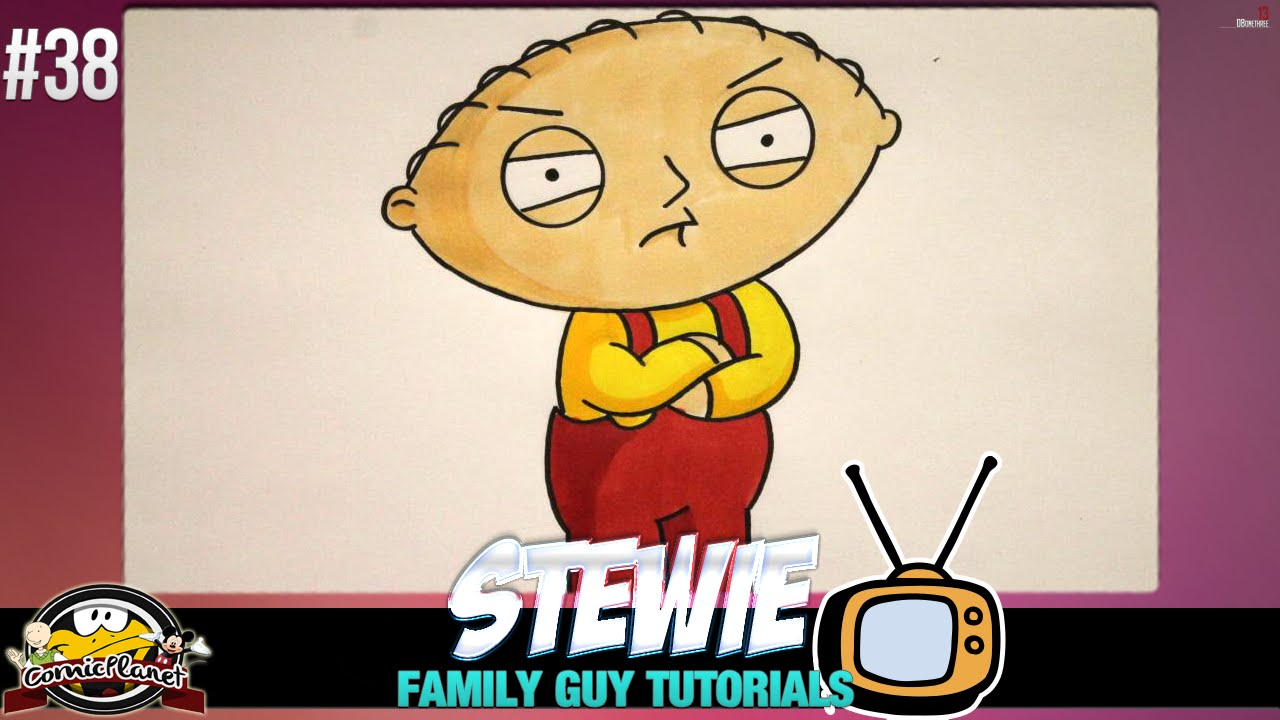 Family Guy Tutorial - Wie zeichnet man Stewie Griffin #38 - YouTube